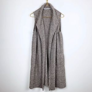 Athleta Boulce Long Line Sweater Vest Cardigan